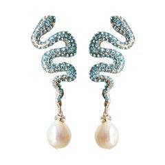 Carlo Zini Milano Snake Earrings