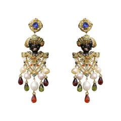 Carlo Zini Milano Venetian Mori Earrings