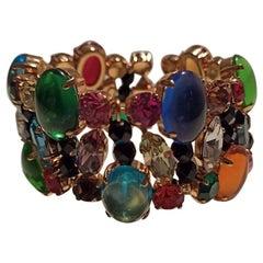 Carlo Zini Multicolored Crystals Bracelet