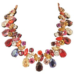 Carlo Zini Multicolored Crystals Collier