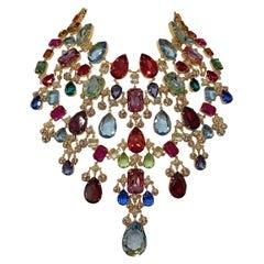 Carlo Zini Multicolored Crystals Maxi Collier