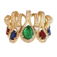 Carlo Zini Multicolored Drops Bracelet