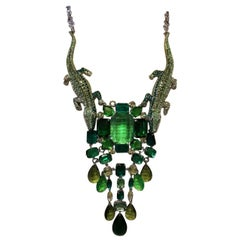 Carlo Zini Peridot Crocodiles Necklace