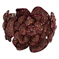 Carlo Zini Pink Flowers Bracelet