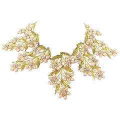 Carlo Zini River Pearls and Leaves Collier