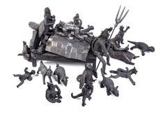 El Sueño de los Amantes / Ceramics Black Clay Mexican Folk Art