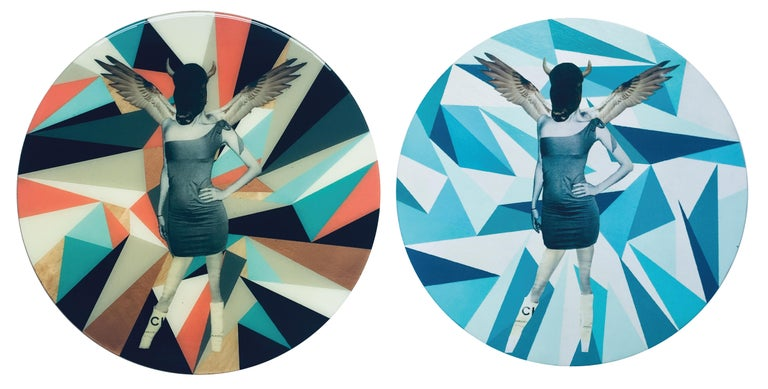 Untitled No.9 and Untitled No.10 Diptych, Mixed Media on Wood - Mixed Media Art by Carlos Alejandro
