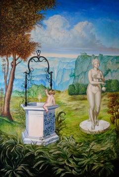 Cuban Contemporary Art by Carlos Antonio Sablon - La Fortune et Le Jeune Enfant
