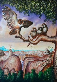 Cuban Contemporary Art by Carlos Antonio Sablon - L'Aigle et le Hibou