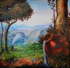 Cuban Contemporary Art by Carlos Sablon - Le Pot de Terre et le Pot de Fer