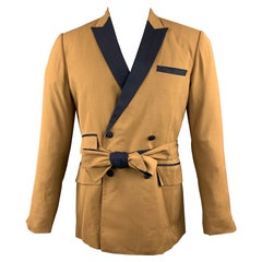 CARLOS CAMPOS Size 38 Tan & Black Two Toned Wool Sport Coat