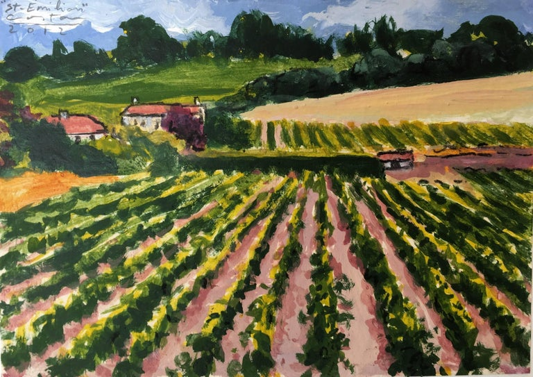 Carlos Costa Landscape Painting - Saint Emilion wineyard