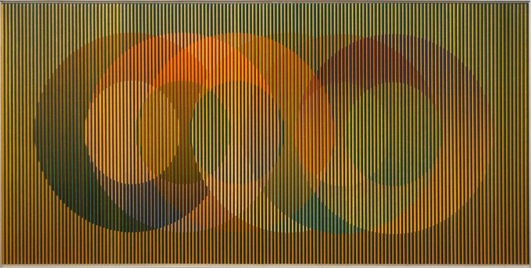 Carlos Cruz Diez Physichromie Ddc 1 Painting For Sale