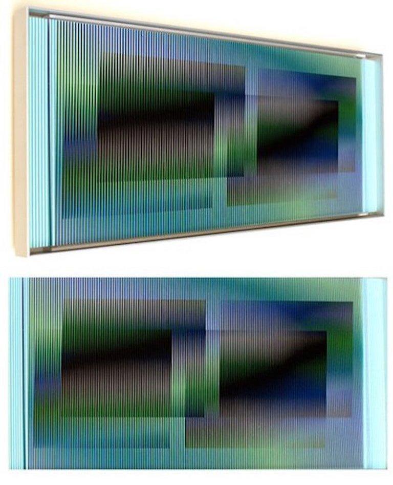 Carlos Cruz-Diez Abstract Sculpture - Chromointerference manipulable marion C