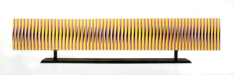 Carlos Cruz-Diez Abstract Sculpture - Stèle horizontale 15
