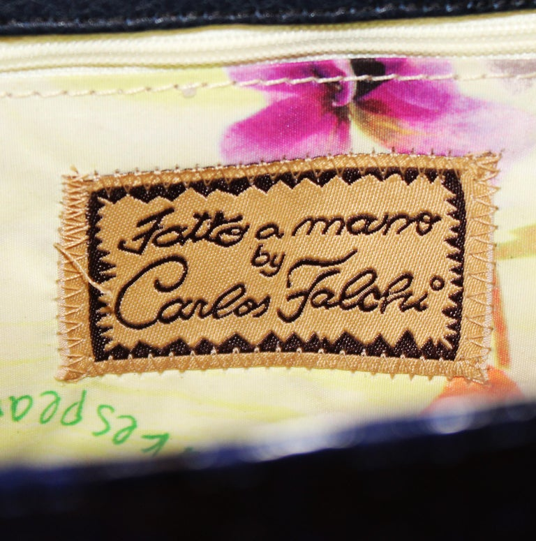 Carlos Falchi blau Python Handtasche  7
