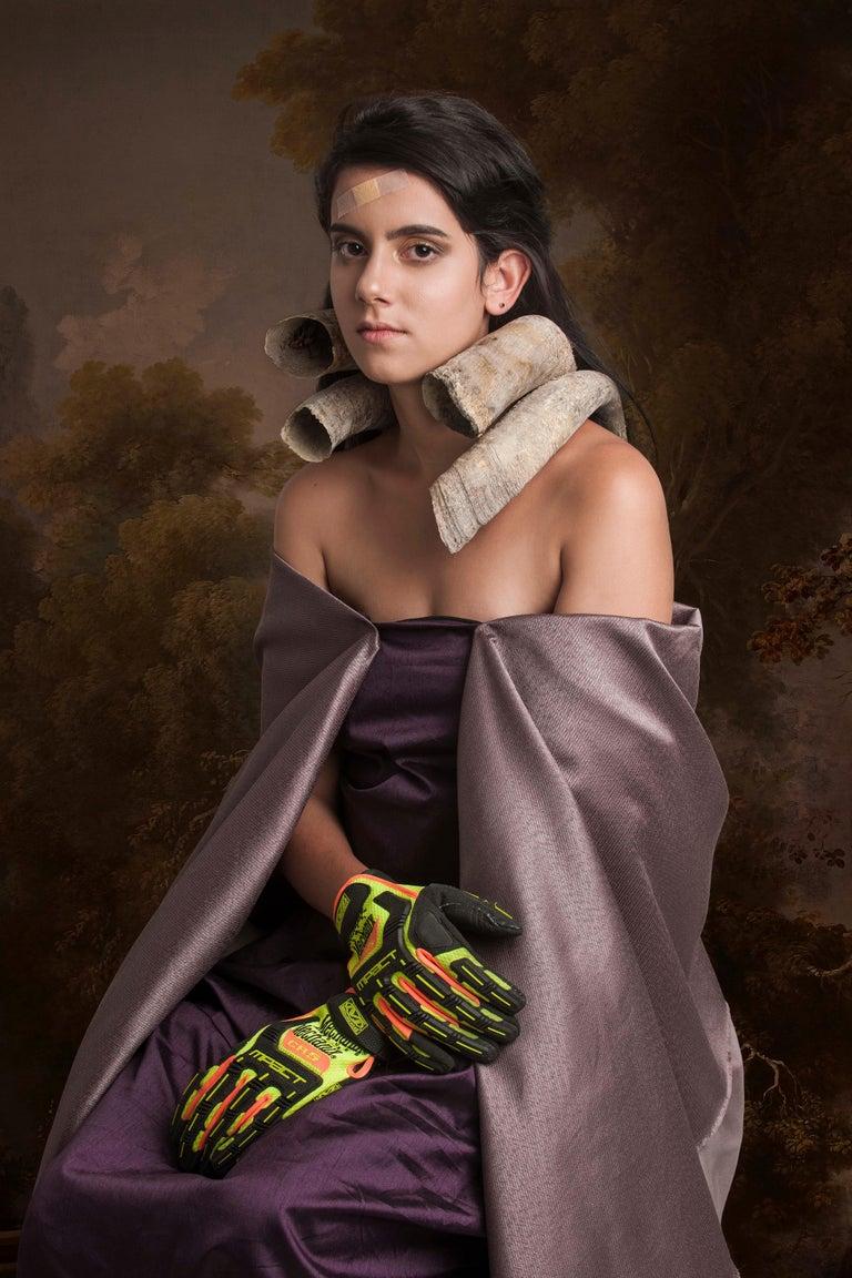 Carlos Gamez De Francisco Portrait Photograph - Portrait of a Madonna with Silky Gloves I