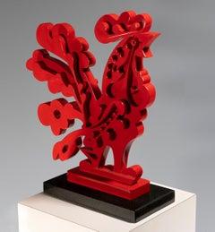 Carlos Luna, Gallo Rojo, 2021, Fiberglass, Edition 1/5