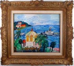 """Casino"", 20th Century Oil on Canvas by Spanish Artist Carlos Nadal"