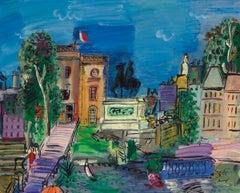 La Clairière by Carlos Nadal - Fauvist