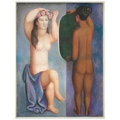 "Carlos Ochagavia ""After the Bath"", 1999 Framed Painting"