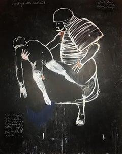 Carlos Quintana Large Abstract vs. Figurative Painting