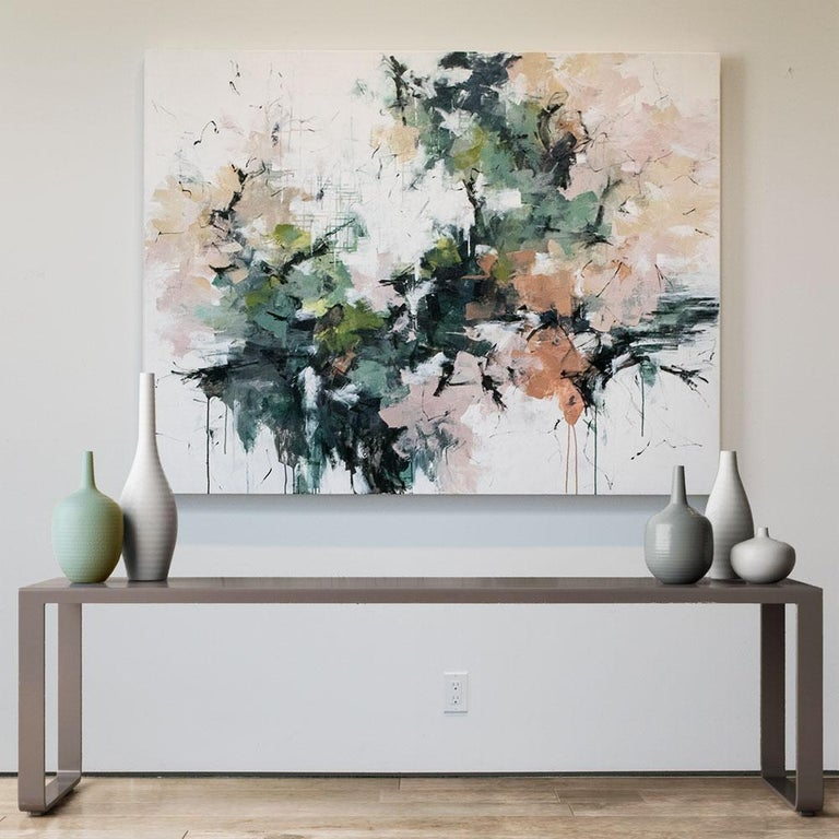 Cherry Blossoms in Central Park - Painting by Carlos Ramirez