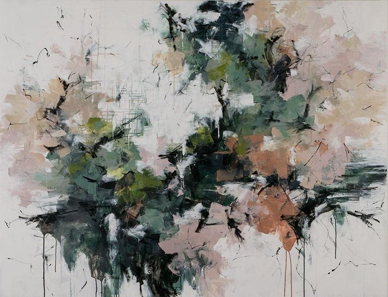Carlos Ramirez Abstract Painting - Cherry Blossoms in Central Park