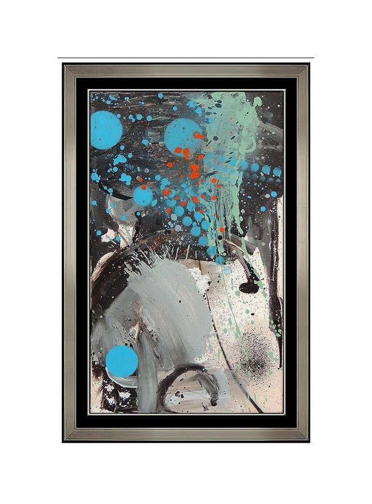DZINE (Carlos Rolon) Abstract Painting - Carlos Rolon Dzine Large Original Oil Painting On Canvas Modern Abstract Artwork