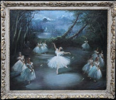 Margot Fonteyn and the Corps de Ballet - 1964 British Impressionist oil painting