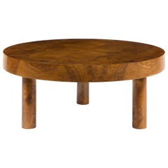 Carlton Coffee Table in Burl Wood by August Abode
