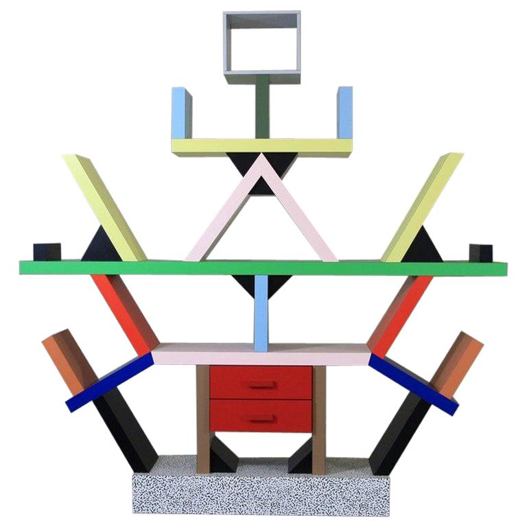 Ettore Sottsass Carlton bookcase, 1981, offered by Space and Chrome
