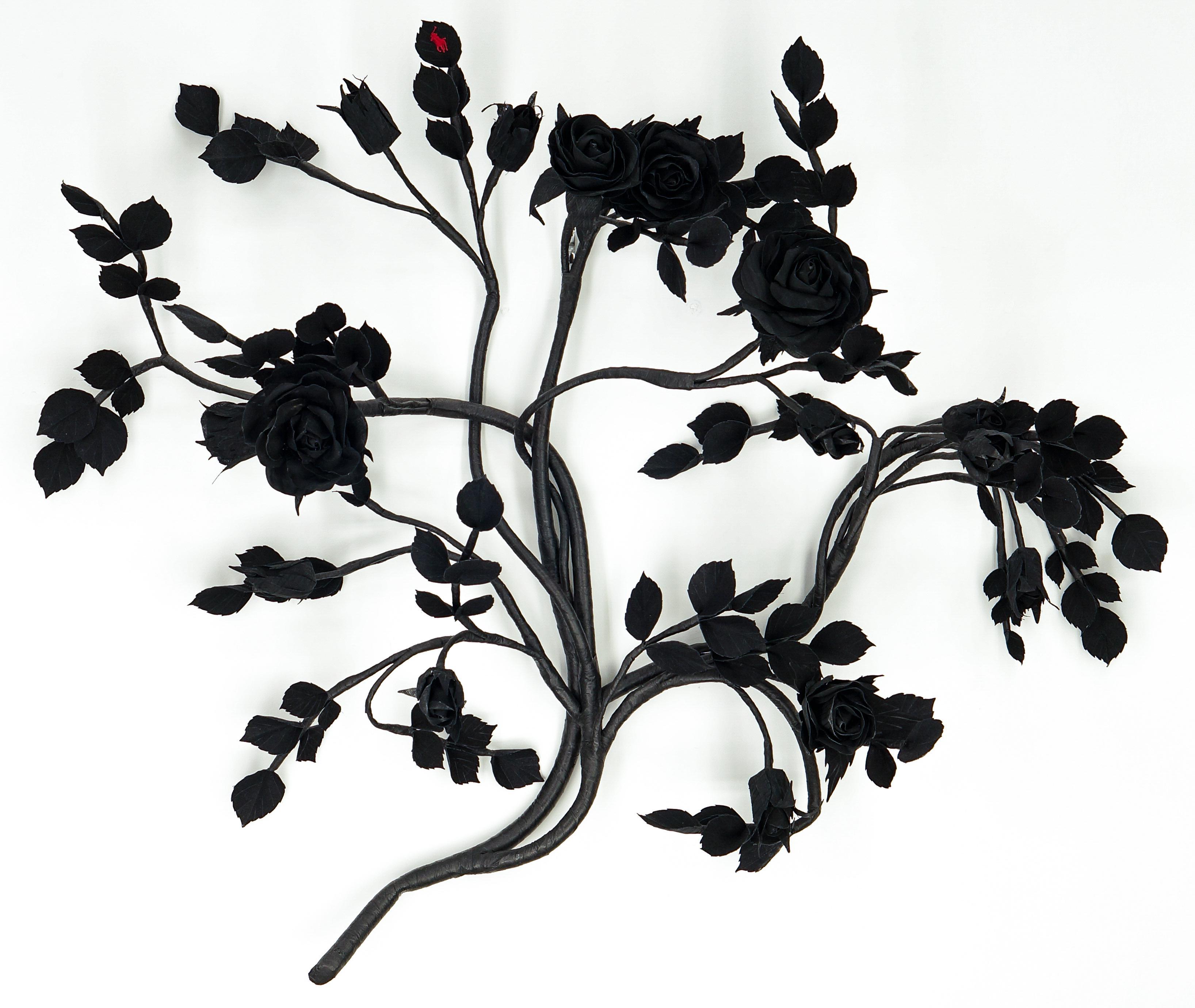 Branded Rose (Black on Black)