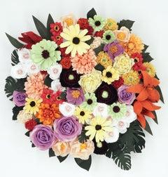 Arrangement in Sunflowers, Dahlias, Tiger Lillies, and Black-Eyed Susans