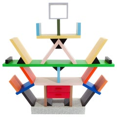 """Carlton"" Shelf or Room Divider by Ettore Sottsass for Memphis, Italy, 1981"