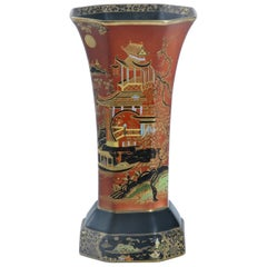 Carlton Ware England 'Temple' Pattern Octagonal Vase, circa 1925