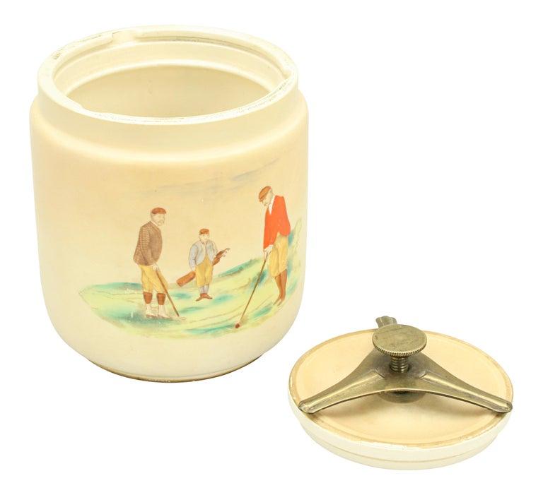Sporting Art Carlton Ware Golf Tobacco Jar For Sale