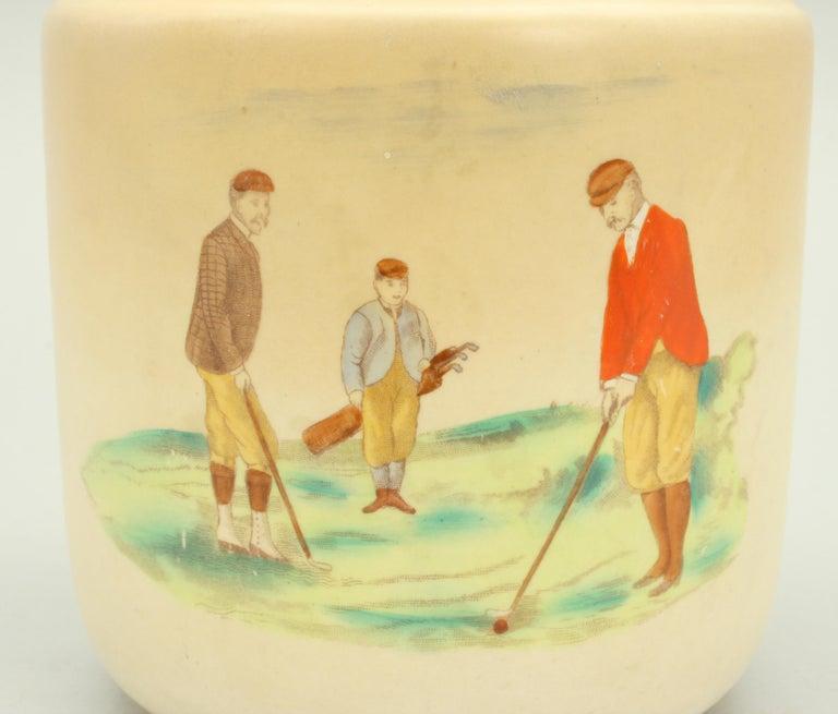 English Carlton Ware Golf Tobacco Jar For Sale