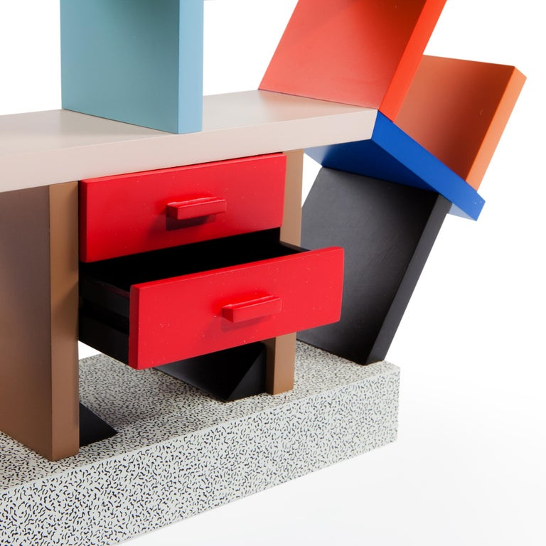 Modern Carlton Wood Miniature Bookcase, by Ettore Sottsass from Memphis Milano For Sale