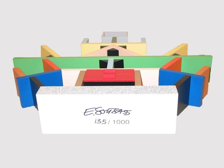 Italian Carlton Wood Miniature Bookcase, by Ettore Sottsass from Memphis Milano For Sale