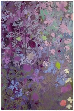 'Spring Garden II - Quince' - naturalist landscape - colorful - Claude Monet
