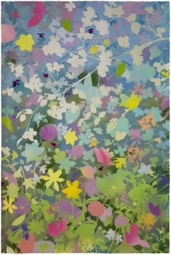 'Spring Garden III - Dogwood' - naturalist landscape - colorful - Claude Monet