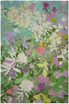 'Spring Garden V - Peony' - naturalist landscape - colorful - Claude Monet