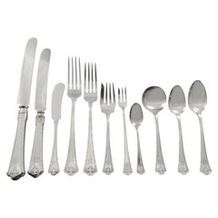 Carmel by Wallace Sterling Silver Flatware Service Set 140 Pcs S Monogram Dinner