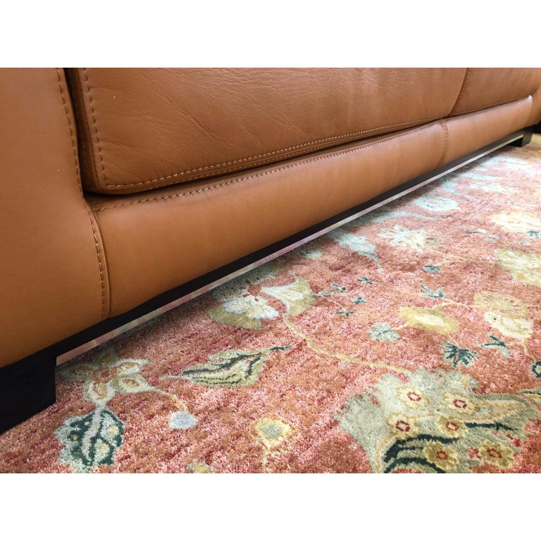 Carmel Leather Sofa by W. Schillig In Good Condition For Sale In San Francisco, CA