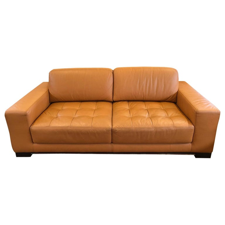 Carmel Leather Sofa by W. Schillig For Sale 2