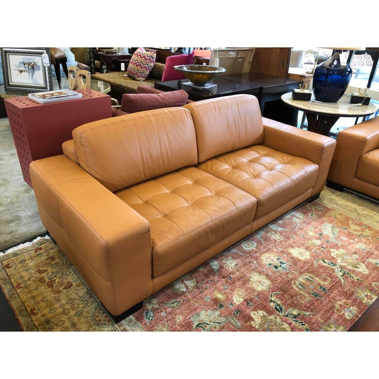 Carmel Leather Sofa by W. Schillig For Sale 3