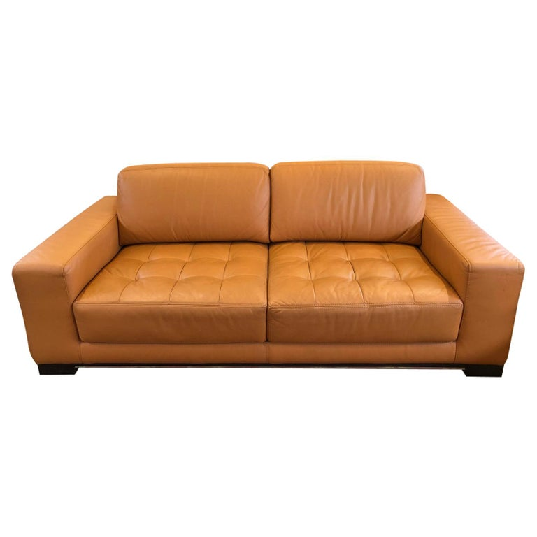 Carmel Leather Sofa by W. Schillig For Sale