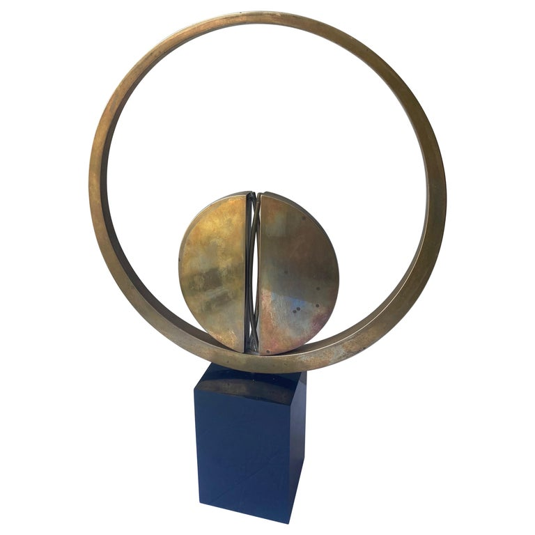 Carmelo Cappello Bronze Kinetic Sculpture,Signed, Numbered,Dated For Sale