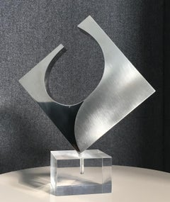 Square Late-20th Century Abstract Geometric Stainless Steel Italian Scuplture